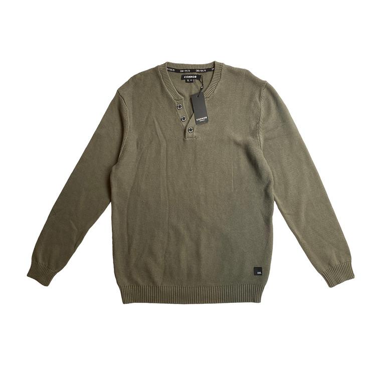 Khaki Connor Knit Sweater
