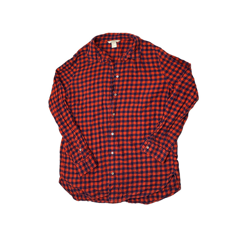 Red and Blue Long Sleeve Checkerd Shirt