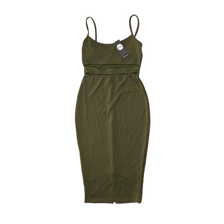 Tanya Neon Strappy Cut-Out Midi Dress