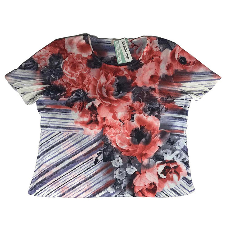 Floral Print Relaxed Fit Tee