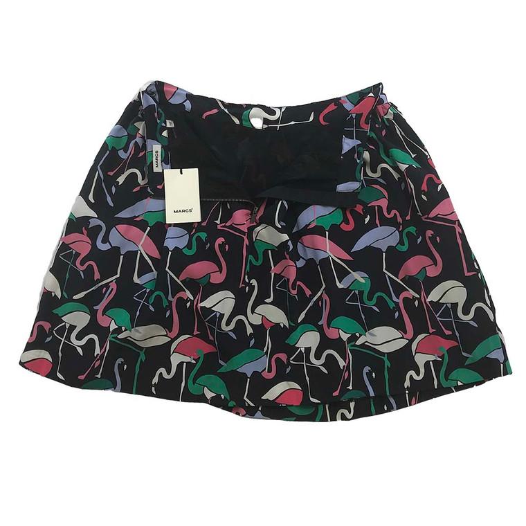 MARCS Silk Flamingo Skirt