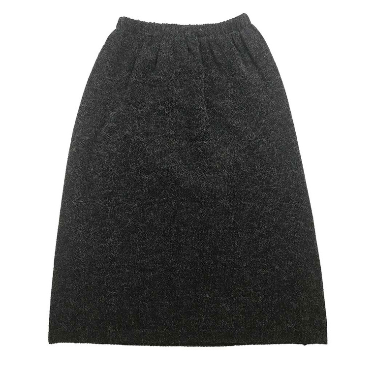 Wool Look Midi Skirt