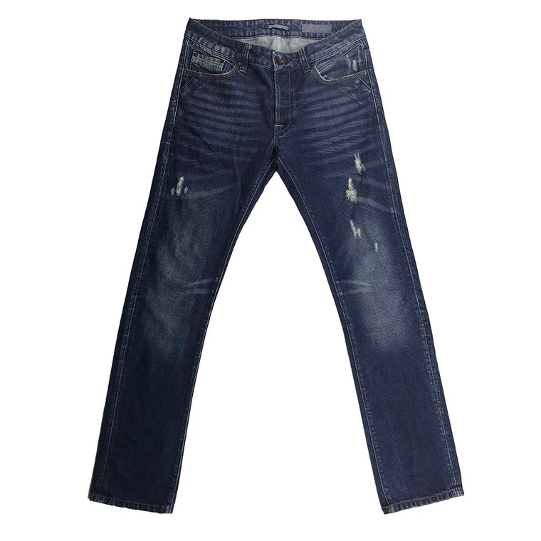 Distressed Relaxed Fit Straight Jeans 32x33