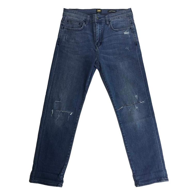 Straight Up Stovie Slash Knee Denim Jeans - 32x28.5 (SHORT)