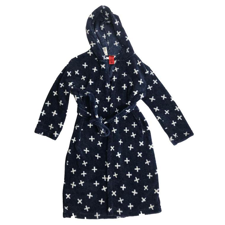 KIDS Cross Pattern Fleece Dressing Gown