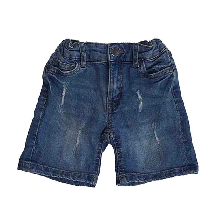 BOYS Adjustable Size Distressed Denim Shorts