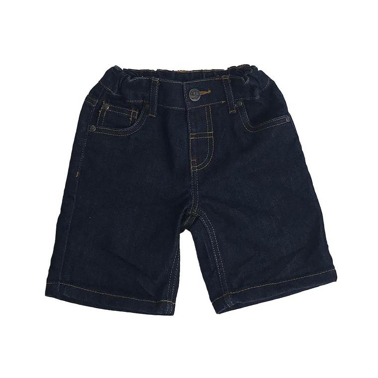 BOYS Elastic Waist Button-up Denim Short