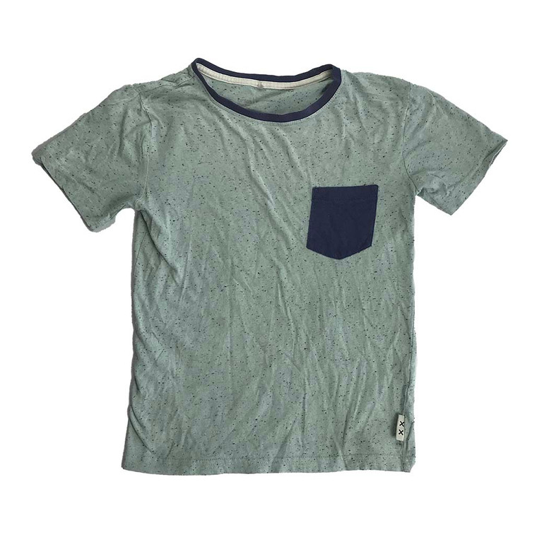 BOYS Speckled Patch Pocket Crew Tee