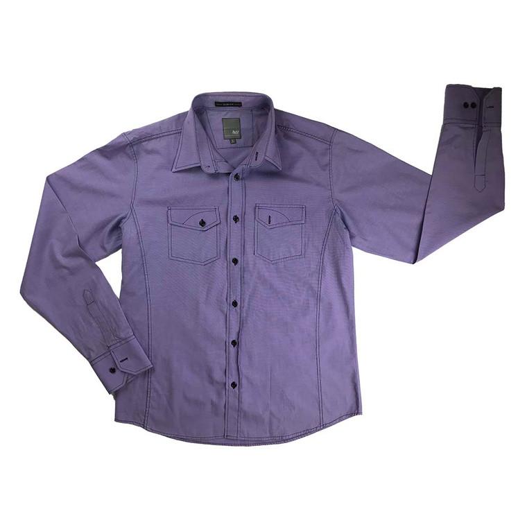 Slim Fit Long Sleeve Utility Shirt