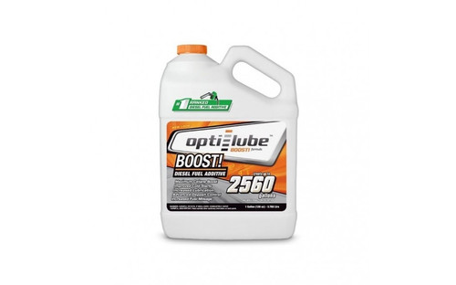 Opti-Lube Boost! Formula Diesel Fuel Additive: 1 Gallon with Accessories (Extra Empty Bottles and Hand Pump)Treats up to 2,560 Gallons