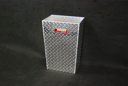 Owens Products RaceMates Medium Trash Can Waste Receptacle / Diamond Tread Aluminum / Owens Products  39171