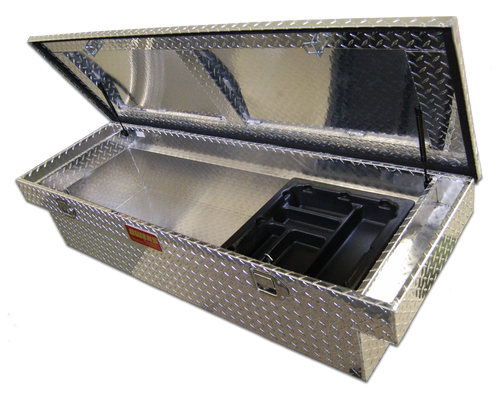 Owens Products Truck Tool Box Ellipse XPL Series Crossover Style / Mid Size / Diamond Tread Aluminum / Bright Polished / Owens Products  57007
