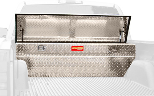 Owens Products Truck Tool Box Ellipse XPL Series Low-Profile Chest / 60 Inch Slanted Side / Diamond Tread Aluminum / Bright Polished / Owens Products  57408