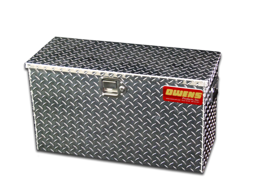 Owens Products Truck Jeep Tool Box Garrison Series Utility Chest / 29 Inch / Diamond Tread Aluminum / Bright Polished / Owens Products  44025