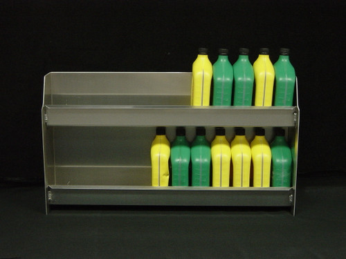 Owens Products RaceMates Oil Storage Shelf Rack / 2-Tier / Smooth Mill Finish Aluminum / Owens Products  39117
