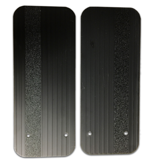Owens Products Stone Guards for Running Boards / Retangular / Extruded Aluminum / Black / Pair / Owens Products  C7000RSGB