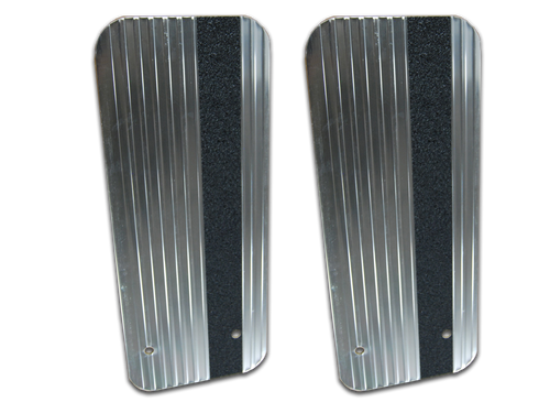Owens Products Stone Guards for Running Boards / Rectangular / Extruded Aluminum / Bright / Pair / Owens Products  C7000RSG