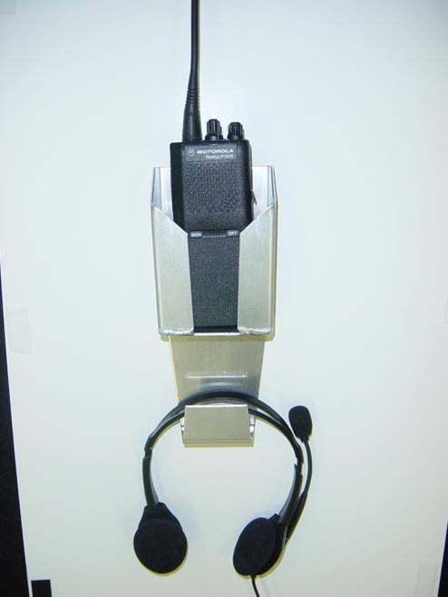 Owens Products RaceMates Radio-Handset Holder / Smooth Mill Finish Aluminum / Owens Products  39129