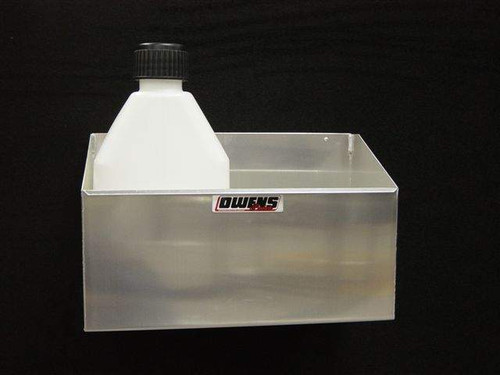 Owens Products RaceMates 2-Bay Fuel Jug Rack / Smooth Mill Finish Aluminum / Owens Products  39110