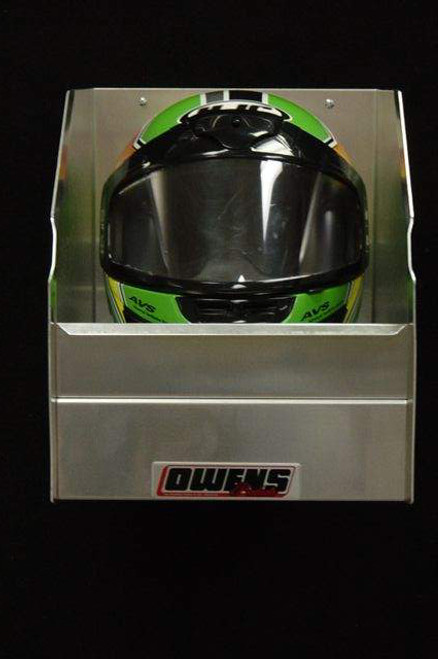 Owens Products RaceMates Single Helmet Rack / Smooth Mill Finish Aluminum / Owens Products  39107