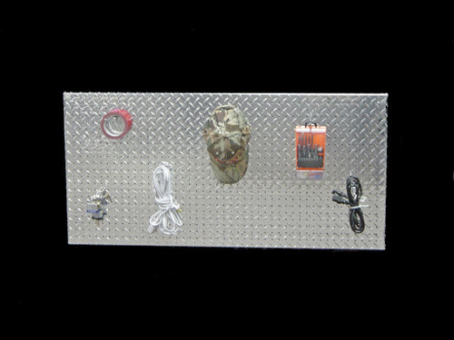 Owens Products RaceMates Garage Tool Pegboard / 22.5 Inch X 46.5 Inch / Diamond Tread Aluminum / Owens Products  39168