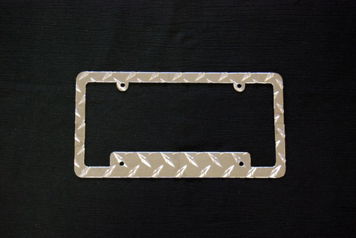 Owens Products RaceMates License Plate Frame Bracket Cover Holder / Diamond Tread Aluminum / Owens Products  39276