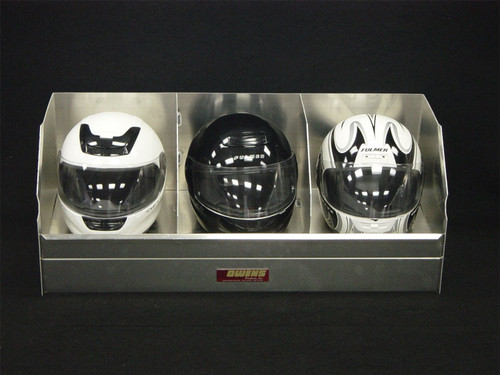 Owens Products RaceMates Triple Helmet Rack / Smooth Mill Finish Aluminum / Owens Products  39147