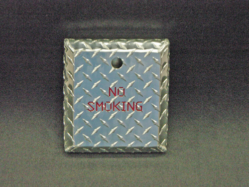 Owens Products RaceMates Wall Mount Ash Tray Cigarette Disposal System / No Smoking / Diamond Tread Aluminum / Owens Products  39157