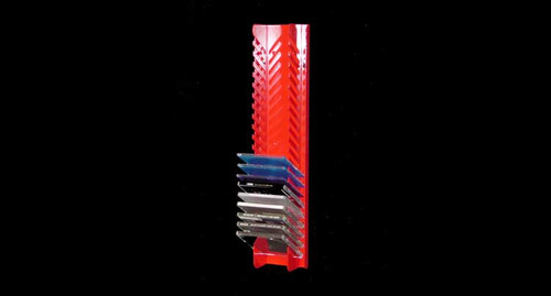 Owens Products RaceMates CD Holder Rack / Red Powder Coat / Smooth Mill Finish Aluminum / Owens Products  39152