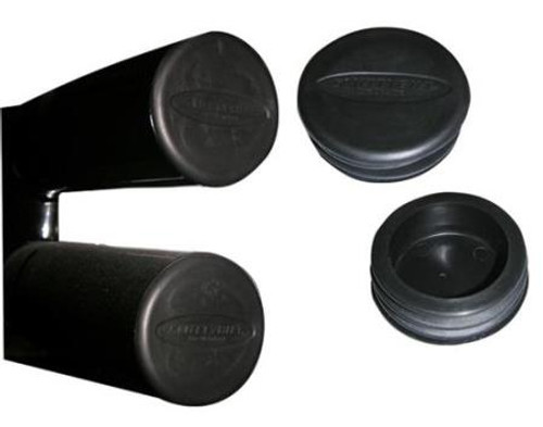 Smittybilt Tubular Bumper End Caps 3 Inch Tube Pair Black TA25