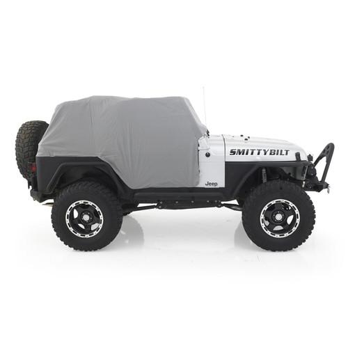 Smittybilt Cab Cover W/Door Flap 92-06 Wrangler YJ/TJ LJ Gray 1061