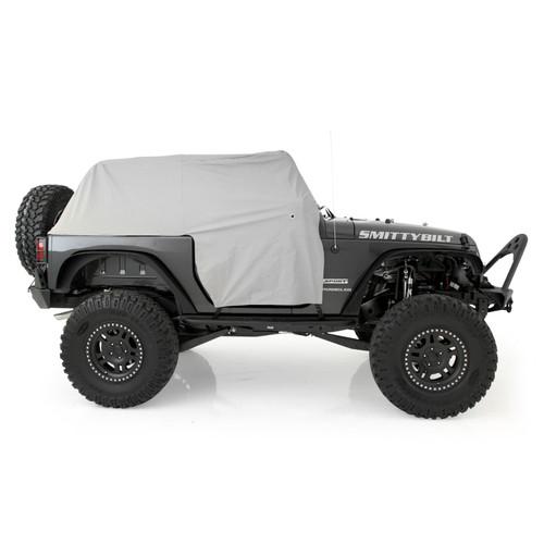 Smittybilt Cab Cover W/Door Flap 07-18 Wrangler JK 2DR Grey 1068