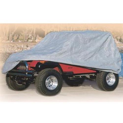 Smittybilt Complete Car Cover 76-06 Jeep Wrangler TJ/YJ/LJ/CJ7 Gray W/Storage Bag 803
