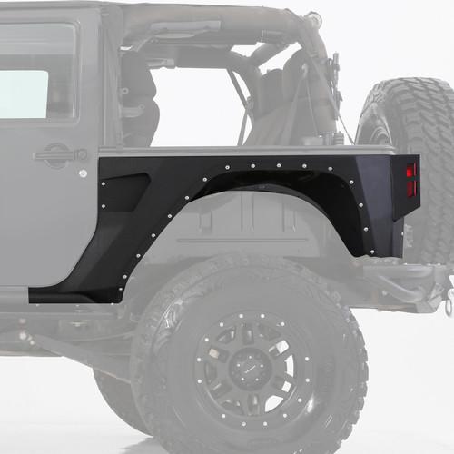 Smittybilt XRC Rear Corner Guards 07-18 Wrangler JK 2DR Black Textured 76881