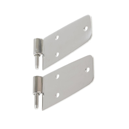 Smittybilt Door Hinges 76-93 Wrangler YJ/CJ Stainless Steel Set Of 4 For Full Steel Doors 7420