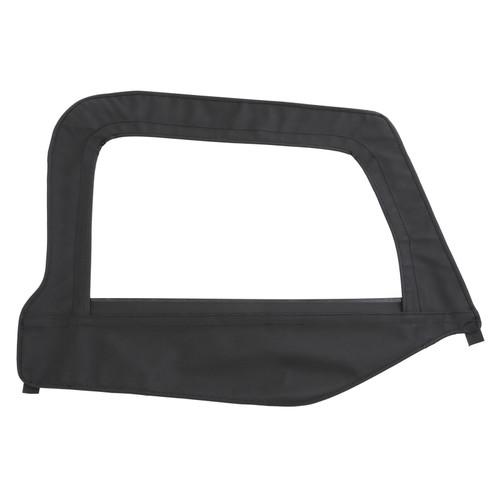 Smittybilt Soft Top Door Skin W/ Frame 97-06 Wrangler TJ Passenger Side Black Denim 79515