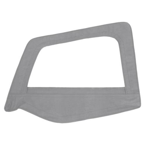 Smittybilt Soft Top Door Skin W/ Frame 87-95 Wrangler YJ Driver Side Denim Gray 89411
