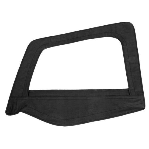 Smittybilt Soft Top Door Skin W/ Frame 87-95 Wrangler YJ Driver Side Denim Black 89415