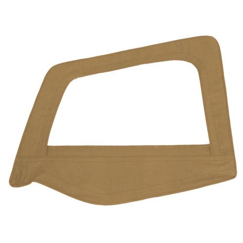 Smittybilt Soft Top Door Skin W/ Frame 87-95 Wrangler YJ Driver Side Denim Spice 89417