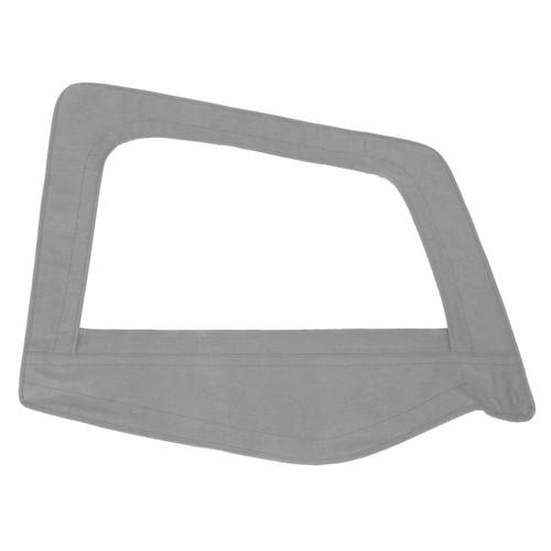 Smittybilt Soft Top Door Skin W/ Frame 87-95 Wrangler YJ Passenger Side Denim Gray 89511