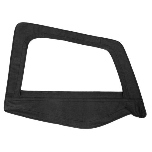 Smittybilt Soft Top Door Skin W/ Frame 87-95 Wrangler YJ Passenger Side Denim Black 89515
