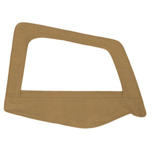 Smittybilt Soft Top Door Skin W/ Frame 87-95 Wrangler YJ Passenger Side Denim Spice 89517