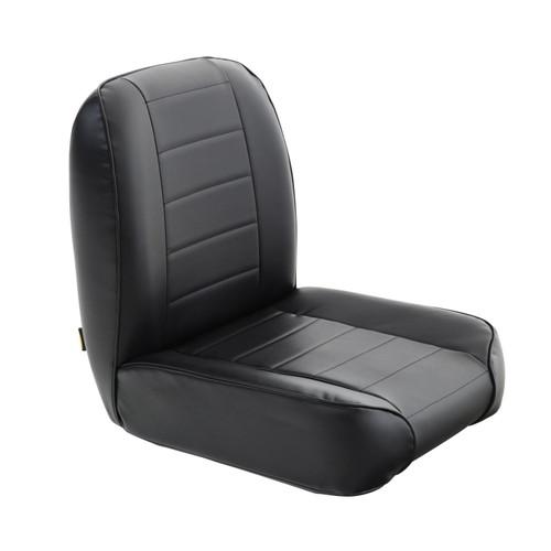 Smittybilt Front Seat 55-76 Jeep CJ Low Back Bucket Vinyl Black 44801