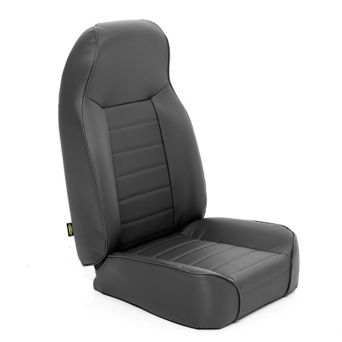 Smittybilt Front Seat Standard Bucket 76-14 Wrangler CJ/YJ/TJ/LJ/JK Denim Black 44915