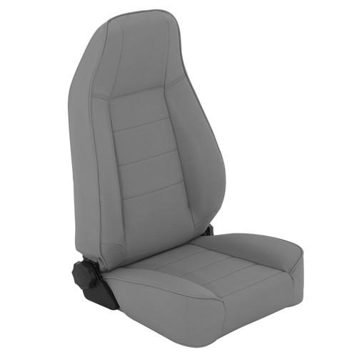 Smittybilt Front Seat Factory Style Replacement W/ Recliner 76-16 Wrangler CJ/YJ/TJ/LJ/JK Denim Gray 45011
