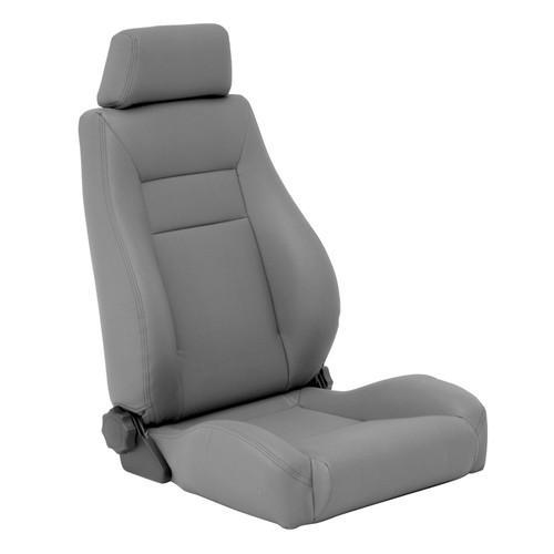 Smittybilt Front Seat Contour Sport Bucket W/ Recliner 76-16 Wrangler CJ/YJ/TJ/LJ/JK Gray Denim 49511