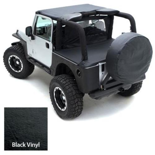 Smittybilt Gear Seat Cover 76-06 Wrangler CJ/YJ/TJ/LJ Rear Black 5660201