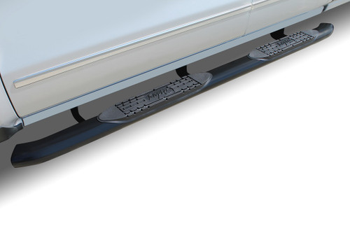 Raptor Series 00-06 Toyota Tundra Extended Cab/Access Cab 4 Inch OE Style Curved Black Oval Step Bars 1504-0247B