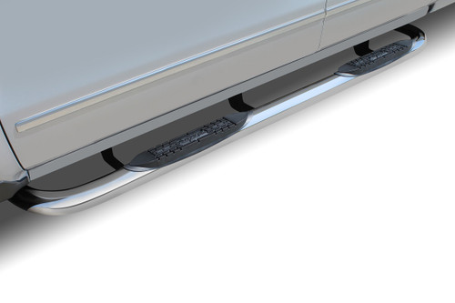 Raptor Series 04-06 Toyota Tundra Double Cab 3 Inch Round Stainless Steel Nerf Bars 0104-0386
