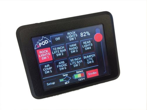sPOD JK Swicth Panel 8 Circuit Source SE W/Touchscreen 07-17 Wrangler JK 8-700-TS-JK